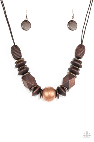PAPARAZZI NECKLACE-Grand Turks Getaway - Copper
