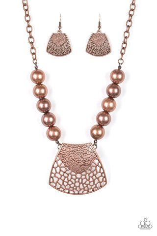 PAPARAZZI NECKLACE- LARGE AND IN CHARGE- COPPER