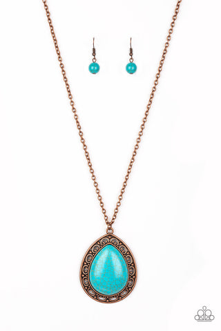 PAPARAZZI NECKLACE- FULL FRONTIER- COPPER
