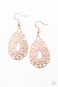 PAPARAZZI EARRINGS-Wisteria Histeria - Rose Gold