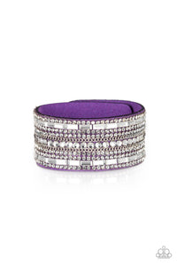 PAPARAZZI BRACELET-Rebel Radiance - Purple