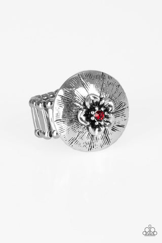 PAPARAZZI RING- Blooming Beach Party - Red
