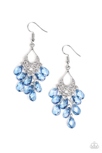 PAPARAZZI EARRINGS- WHAT HAPPENS IN MAUI- BLUE