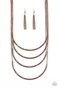 PAPARAZZI NECKLACE-It Will Be Over MOON - Copper
