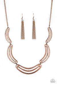 PAPARAZZI NECKLACE- PALM SPRINGS PHARAOH- COPPER