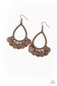 PAPARAZZI EARRINGS-All In Good CHIME - Copper