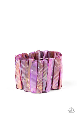 PAPARAZZI BRACELET-Beach Blast - Purple
