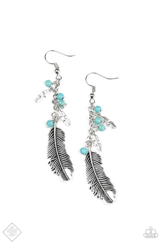 PAPARAZZI EARRINGS-Find Your Flock - Blue