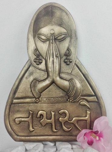 Welcome/Namaste Wall Plaque