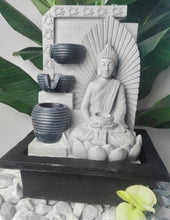 Load image into Gallery viewer, Seated Buddha With Bowl Water Feature