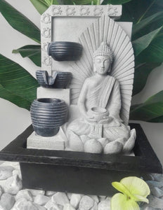 Seated Buddha With Bowl Water Feature