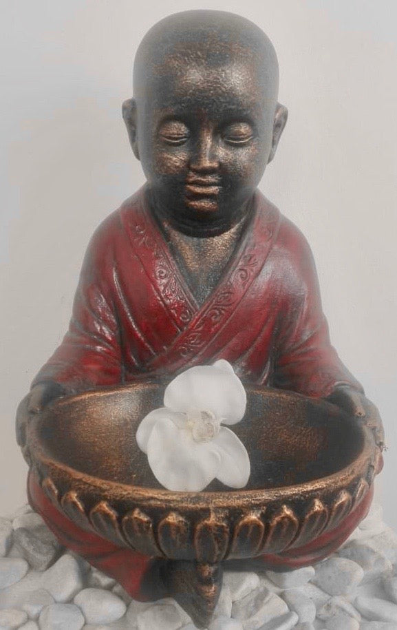SHAOLIN MONK SEATED WITH BOWL