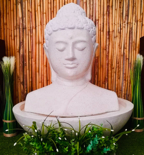 CAESARSTONE BUDDHA HEAD WATER FEATURE