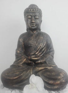 BUDDHA SEATED WITH CANDLE HOLDER