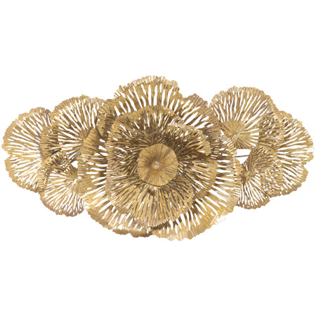 GOLD FLORA WALL ART