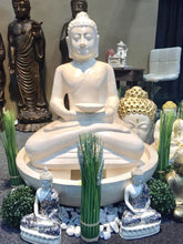 Load image into Gallery viewer, CAESARSTONE BUDDHA SEATED WATER FEATURE
