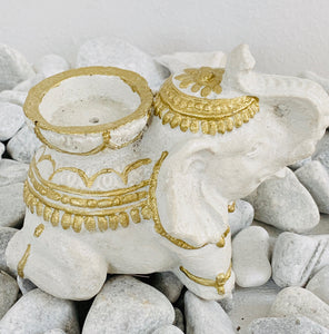 Elephant tea light / incense holder