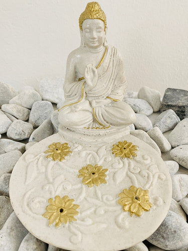 INCENSE STICK HOLDER ROUND - BUDDHA