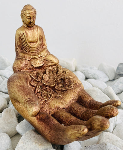 Buddha hand incense stick holder
