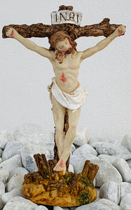 Jesus on cross on stand small