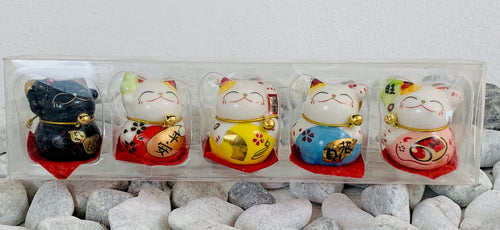 Feng shui set of lucky cats