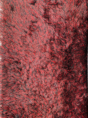 4.8 X 6.8 FEET BLACK AND RED FINE STRANDS(Handmade India)