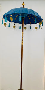 DECORATIVE UMBRELLA SINGLE BLUE TURQUOISE