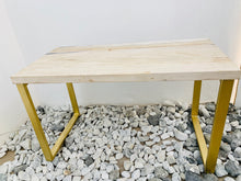 Load image into Gallery viewer, RECTANGULAR COFFEE TABLE (PETRIFIED WOOD WHITE)