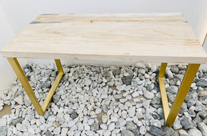 RECTANGULAR COFFEE TABLE (PETRIFIED WOOD WHITE)