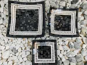 SQUARE PLATE SET OF 3 -  BLACK JELLY