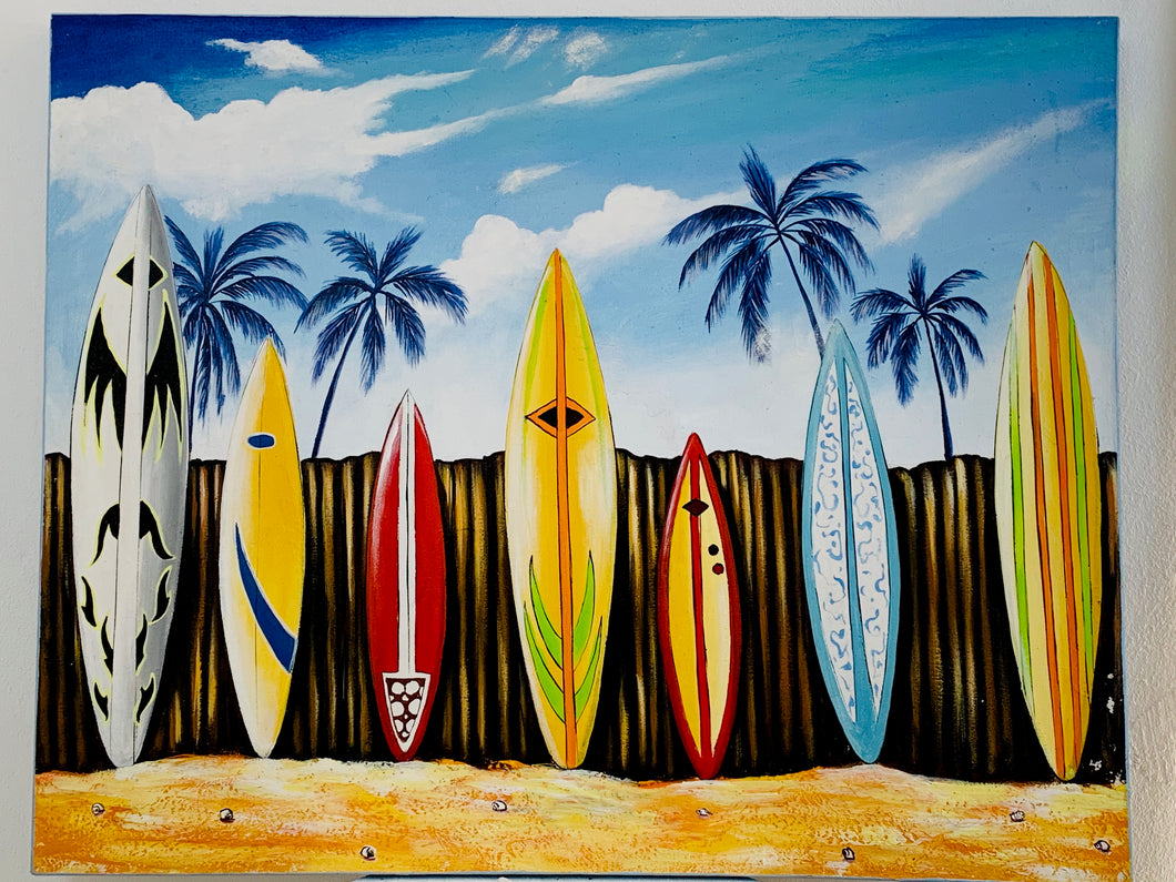 SURFING PAINTING 80 X 100