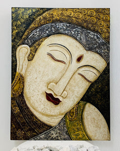 BUDDHA CARVED PANEL