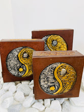 Load image into Gallery viewer, HANDMADE SET OF 3 BOXES- YIN AND YANG 3 SIZES