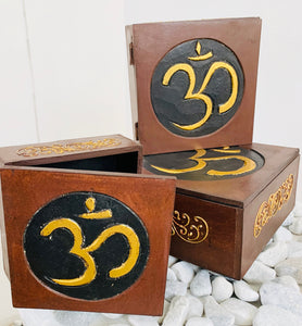HANDMADE SET OF 3 BOXES- AUM 3 SIZES