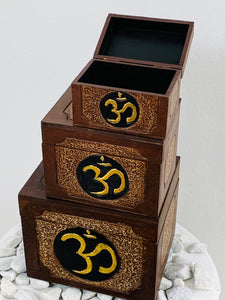 AUM BOXES SET OF 3