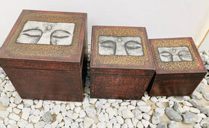 BUDDHA EYE BOX SET OF 3