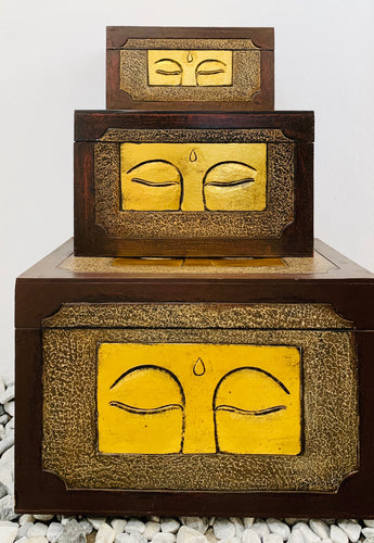 HANDMADE BUDDHA EYE TRUNKS SET OF 3 BIG