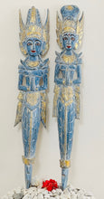 Load image into Gallery viewer, BALINESE RAM AND SITA COUPLE WOODEN CARVING MERMAID FIGURE- PAIR