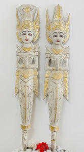 BALINESE RAM AND SITA COUPLE WOODEN CARVING MERMAID FIGURE- PAIR