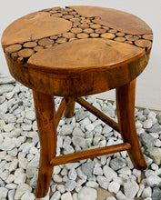 Load image into Gallery viewer, TEAK STOOL