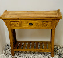 Load image into Gallery viewer, CONSOLE TABLE 1DRW NATURAL WOOD