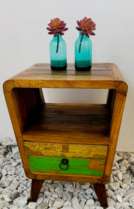 SIDE PEDESTALS 1 DRAW RECYCLE WOOD