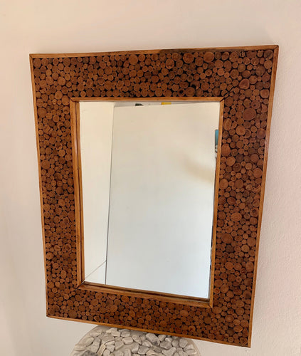 SOLID DRIFTWOOD FRAMED MIRROR