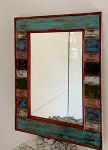 ANTIQUE COLOUR WASH FRAME MIRROR
