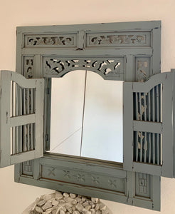 PRISON MIRROR PAINTED GREY/SILVER BLACK
