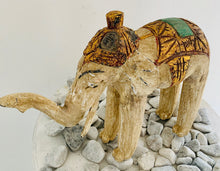 Load image into Gallery viewer, WOODEN CARVED THAI ELEPHANT STATUE