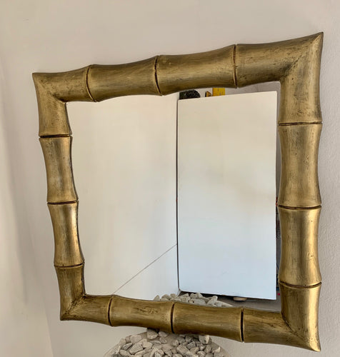 BAMBOO CARVED MIRROR
