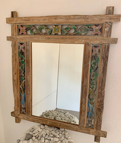 CARVED PAINTED MIRROR