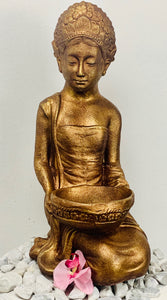 Lady with bowl kneeling 65cm