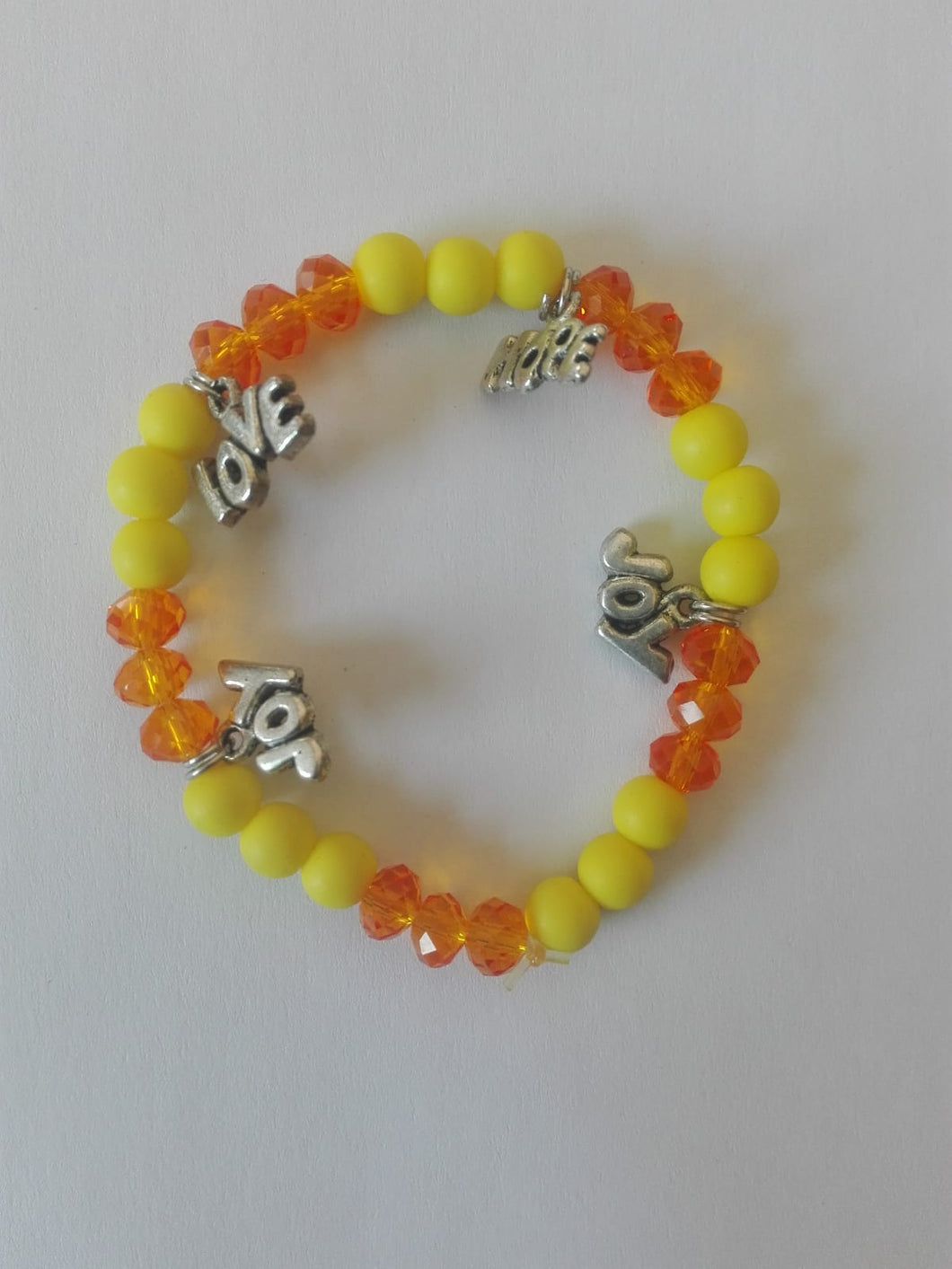 Bracelet orange/yellow Love